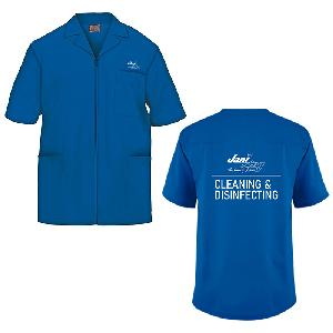 Men's Cleaning and Disinfecting Cherokee Front Zip Smock - See Ladies Shirts Tab for Ladies Smock